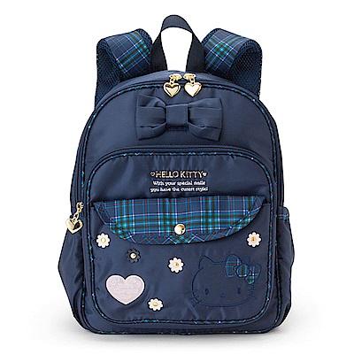Sanrio HELLO KITTY蘇格蘭藍格紋系列兒童後背包M