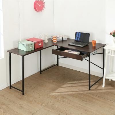 BuyJM超值防潑水L型單抽屜工作桌/電腦桌/寬140*120cm-DIY