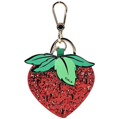 FURLA DELIZIA FRAGOLA 亮片草莓拼接造型鑰匙圈(紅色)