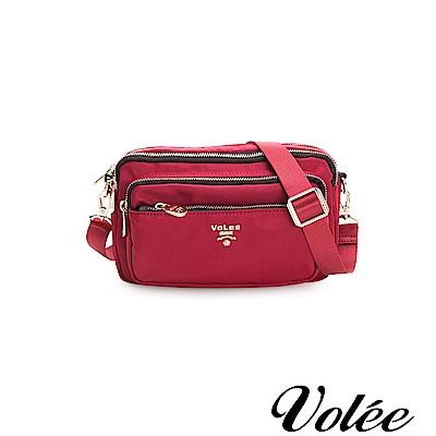 Volee飛行包-伴旅系列多功能多拉隨行鍊肩背包-美國紅