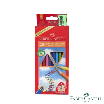 Faber-Castell紅色系大三角彩色鉛筆 3.8 mm 20色