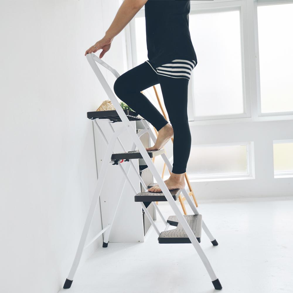 完美主義 簡約四層可折疊樓梯椅/A字梯/家用梯