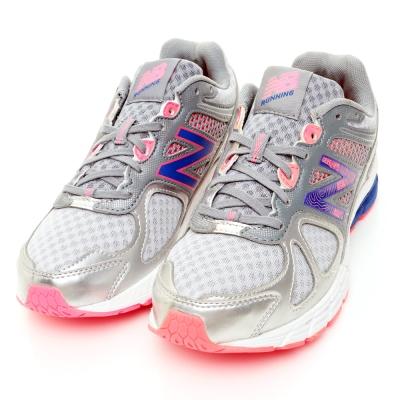 New-Balance-60-70女穩定跑鞋-銀灰