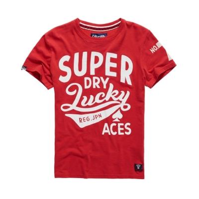 SUPERDRY 極度乾燥 文字T恤 紅色