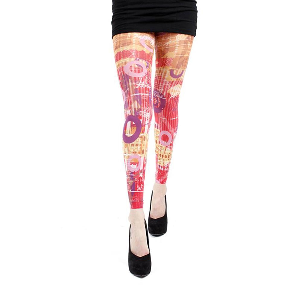 摩達客【Pamela Mann】繽紛印象 內搭褲九分褲襪