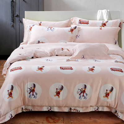 Saint Rose 時空騎士 雙人100%純天絲全鋪棉床包兩用被套四件組