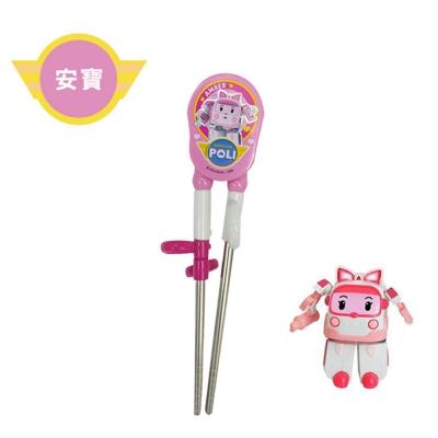 Poli - 韓國原裝進口 不鏽鋼兒童學習筷 安寶