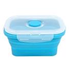 Quasi疊樂矽膠長保鮮盒 藍 350ml