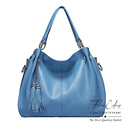 DF Flor Eden - 時尚經典牛皮款流蘇手提斜背2用包-共2色