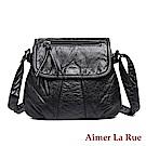 Aimer La Rue 側背包 伊修達爾水洗系列(黑色)