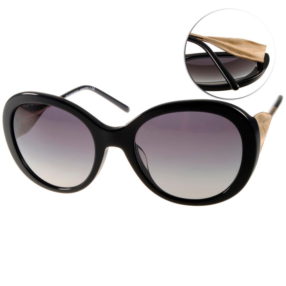 BURBERRY太陽眼鏡 歐美風範/黑#BU4191F 30018G