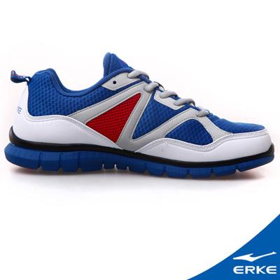 ERKE 鴻星爾克。男運動綜訓慢跑鞋-寶石藍/大紅