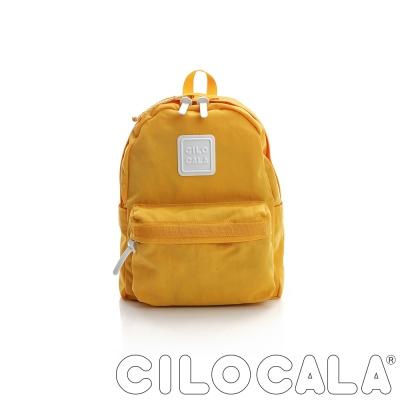 CILOCALA 亮彩尼龍防潑水後背包 黃色(小)