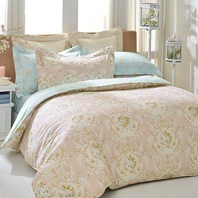 義大利La Belle 浪漫滿屋 單人三件式防蹣抗菌舖棉兩用被床包組