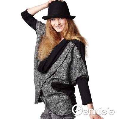 Gennie-s奇妮-顯瘦摩登飛鼠袖秋冬哺乳上衣