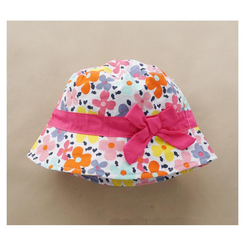 繽紛花海女童盆帽
