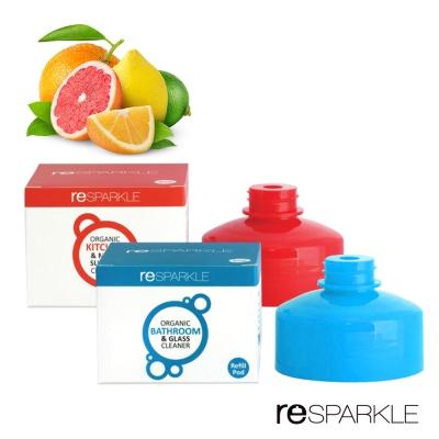 澳洲reSPARKLE 綠思寶-  清潔劑補充蓋2入(廚房多功能+浴室玻璃)