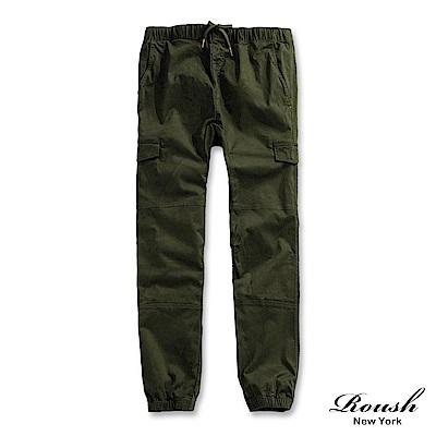 ROUSH 美式高磅數多口袋水洗束口長褲 (3色)