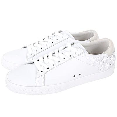 ASH Dazed 星型鉚釘細節繫帶休閒鞋(白色)