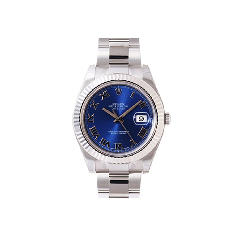 ROLEX 勞力士 DatejustII 116334 蠔式恒動日誌型腕錶-羅馬藍/41m