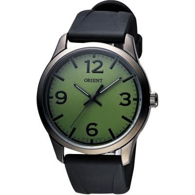 ORIENT 運動玩家大數字腕錶-綠x黑/43mm