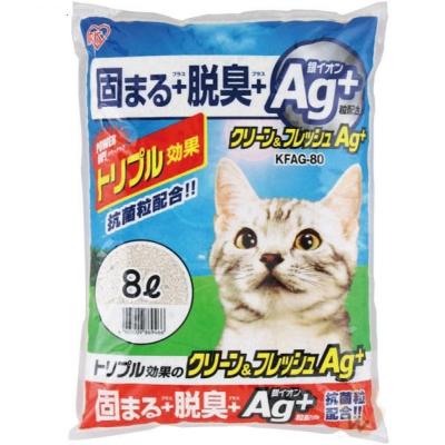 日本IRIS AG+奈米銀貓砂9L 3包入