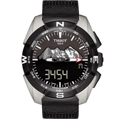 TISSOT 天梭 T-TOUCH EXPERT 太陽能觸控腕錶-黑/45mm