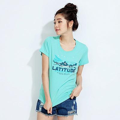 101原創 極地之旅短袖T恤上衣-蒂芬妮藍