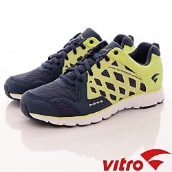 Vitro韓國專業運動品牌-Mode StepⅢ頂級專業慢跑鞋-螢光綠藍(男)