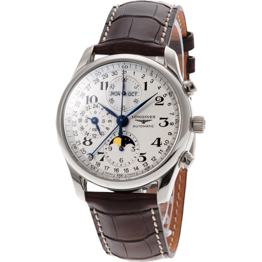 LONGINES 浪琴表巨擘系列全日曆月相計時碼錶