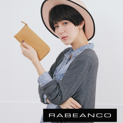 RABEANCO-歐系經典單拉鍊長夾-駝