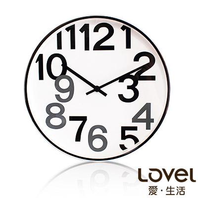 LOVEL 30cm 普普簡約金屬框時鐘-共2款