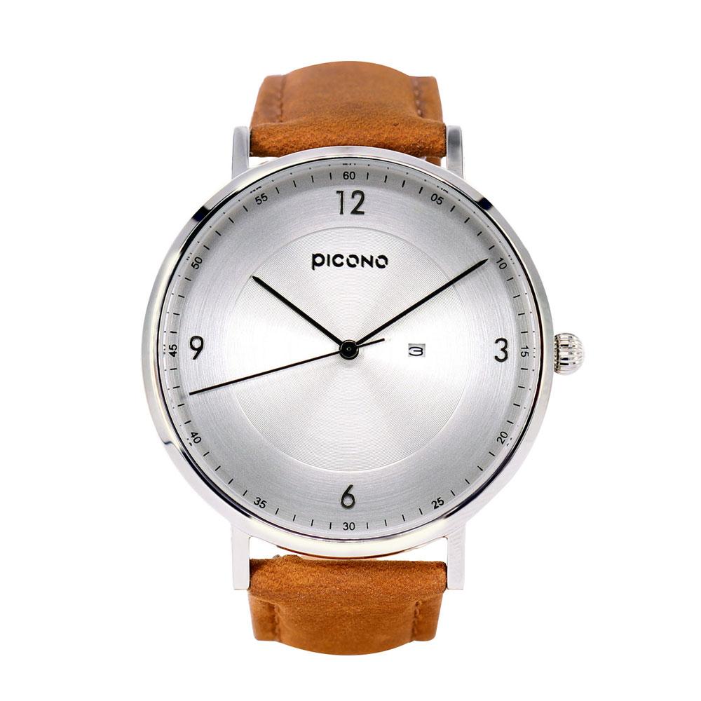PICONO VINYL系列 輕薄真皮錶帶手錶(VL-6602)