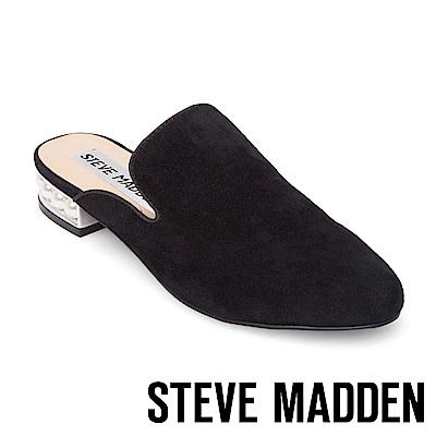 STEVE MADDEN-SANDERSON 低跟穆勒鞋-黑色