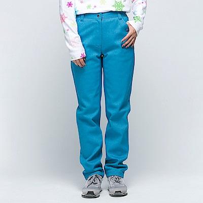 【SNOW FOX 雪狐】女款抗風透氣保暖彈性長雪褲 RP-61455W 土耳其藍