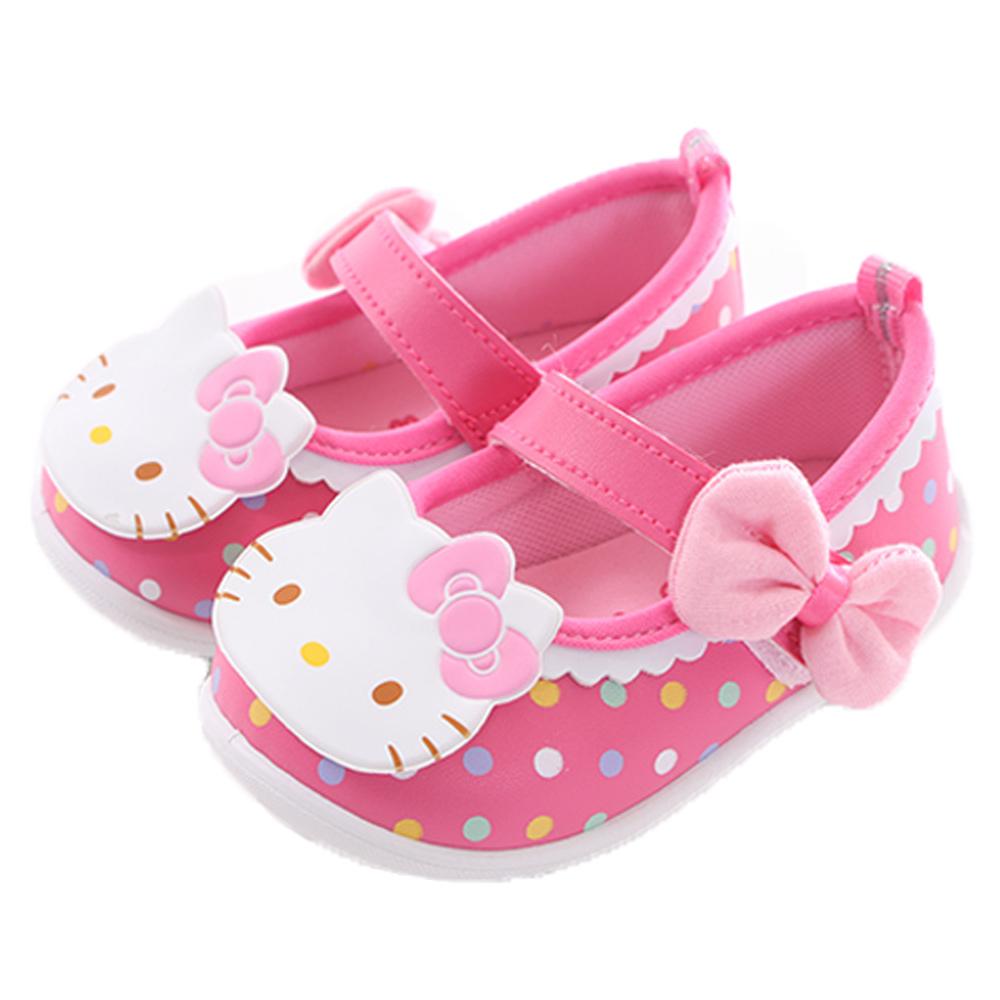 魔法BabyHello kitty蝴蝶結點點娃娃鞋 桃 sk0329