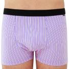 SOLIS 百搭條紋系列M-XXL竹碳纖維貼身四角褲(雲雀紫)