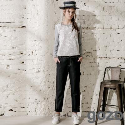 gozo-背後造型雙口袋素面休閒褲-共2色