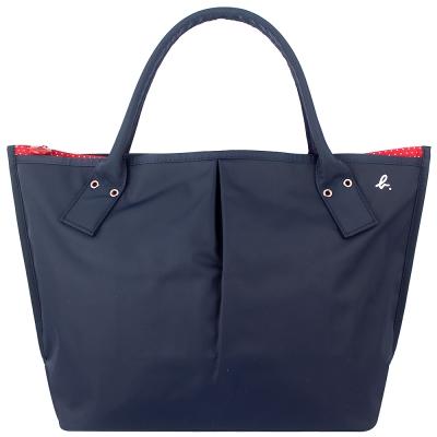 agnes b.藍色點點紅色內裡水餃包大日本款