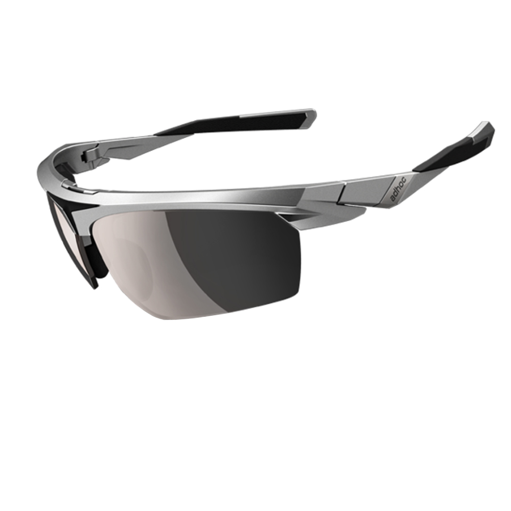 【ADHOC】運動太陽眼鏡-偏光灰片-半框式 BLADE