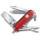 VICTORINOX 瑞士維氏迷你8用USB瑞士刀-透明紅 product thumbnail 1