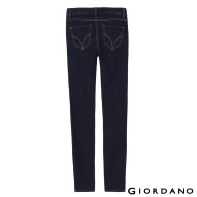 GIORDANO-女裝中腰修身窄腳牛仔褲-56深藍