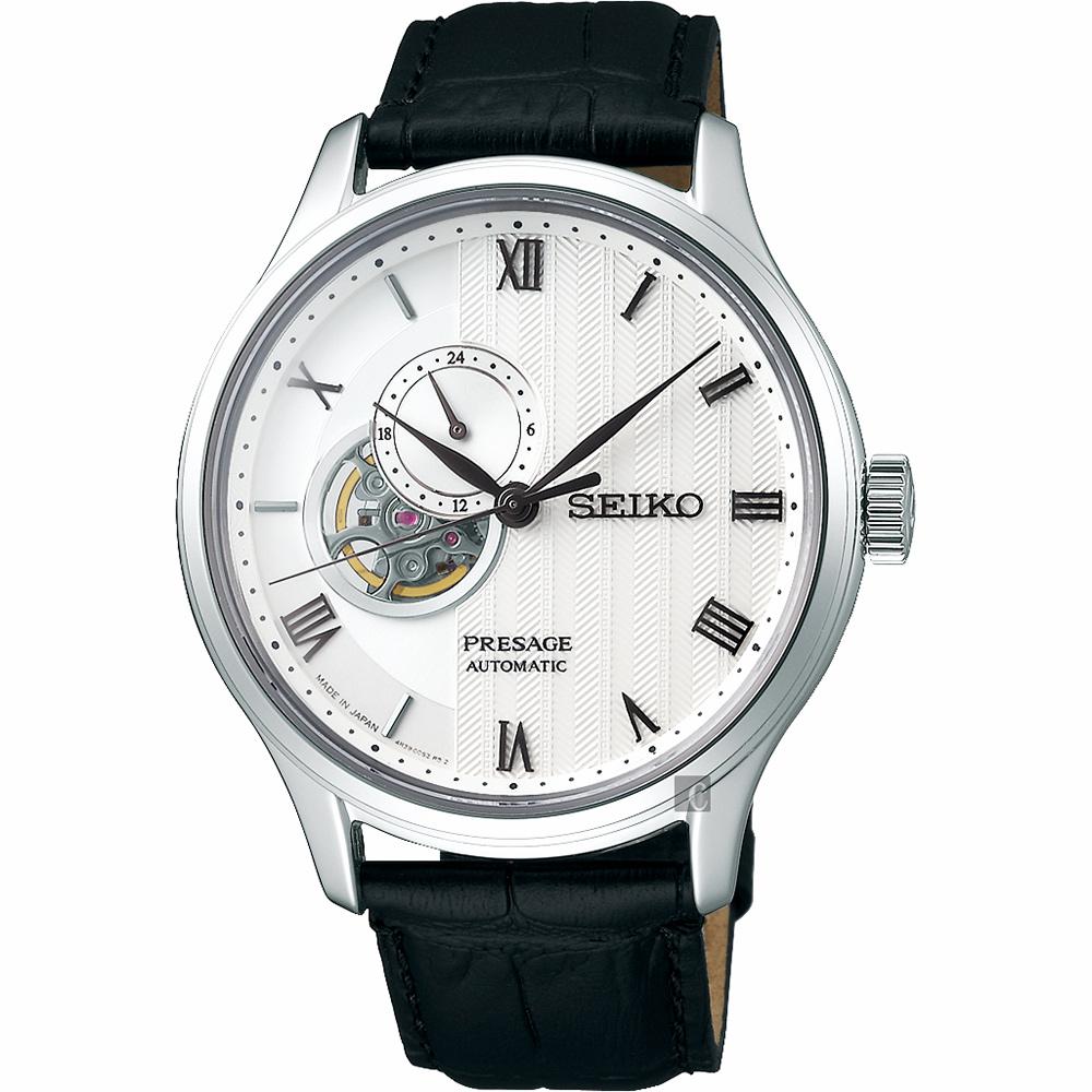 SEIKO精工 Presage 開芯羅馬小鏤空機械錶(SSA379J1)-41.8mm