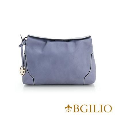 義大利BGilio-熱銷優雅簡約小側肩背包-淺藍色