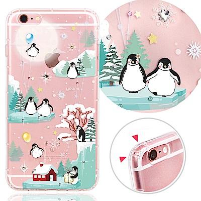 YOURS APPLE iPhone 6s Plus 奧地利彩鑽防摔手機殼-企鵝...