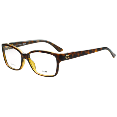 GUCCI-時尚光學眼鏡-琥珀色