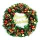 20吋豪華高級聖誕花圈-紅金色系
