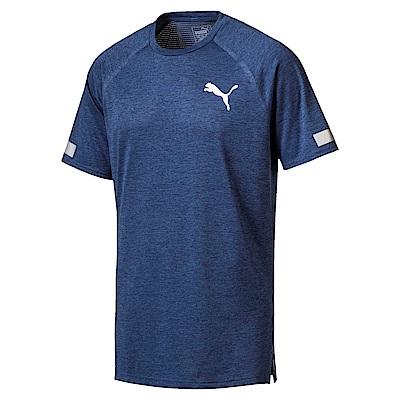 PUMA-男性訓練系列BND短袖T恤-馬尾藻海藍(麻花)-歐規