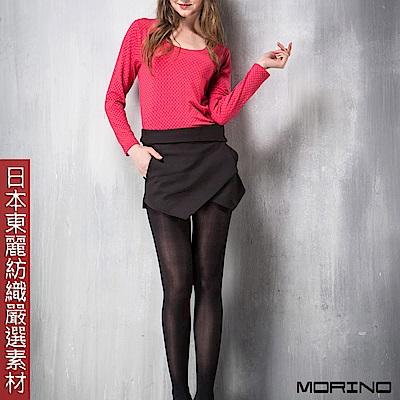 (超值3件組) 女款日本嚴選素材U領發熱衣 圓點粉