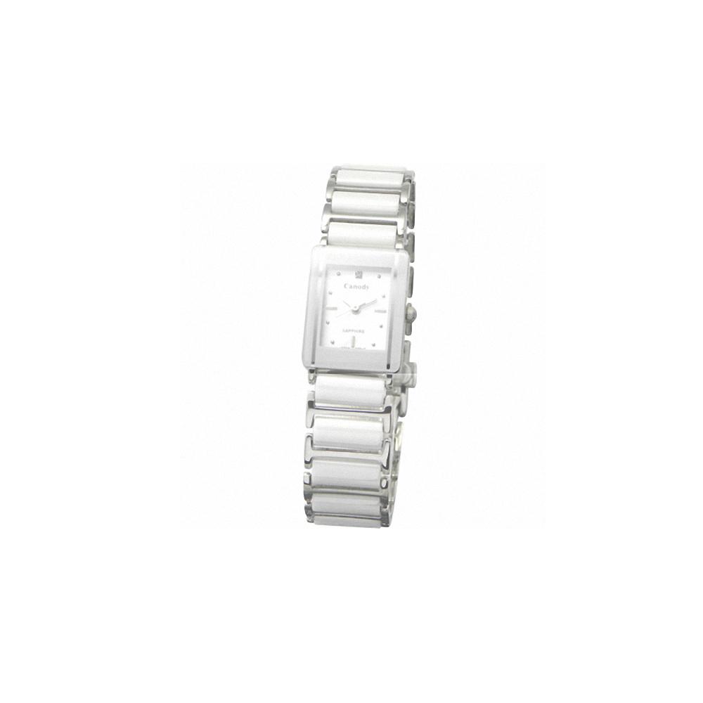 Canody 珍愛時光陶瓷腕錶-白/17x23mm